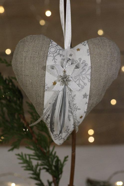 Coeur de Noël en Lin