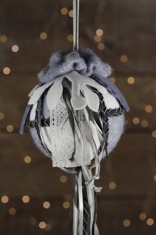 Boule de Noël laine