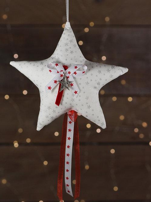 Etoile de Noël rouge et blanc