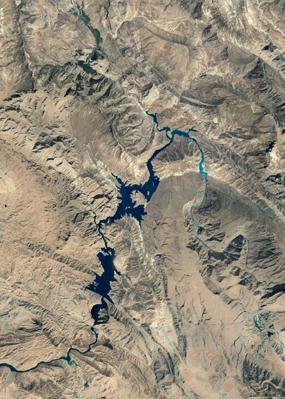 satellite view of the river where the field recording was made. southwest of iran.