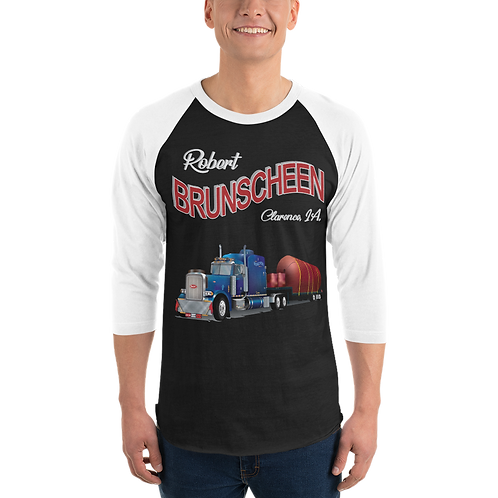 Robert Brunscheen Trucking Front only 3/4 sleeve raglan shirt