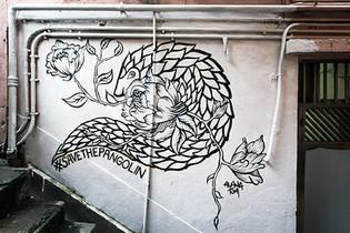 """LOVE IS WILD"" WALLS OF CHANGE STREET ART CAMPAIGN - HONG KONG"