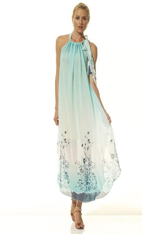 Aqua Lola Print Dress