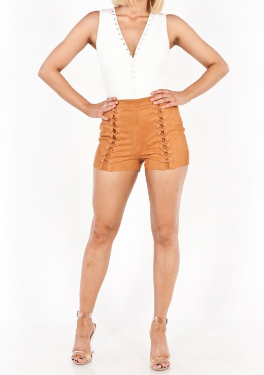SUEDE CHEEKY SHORT