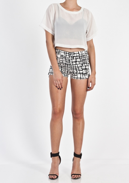 MATCH ME UP PRINT SHORT