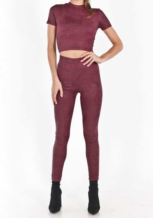 THE FAUX SUEDE LEGGING & TOP