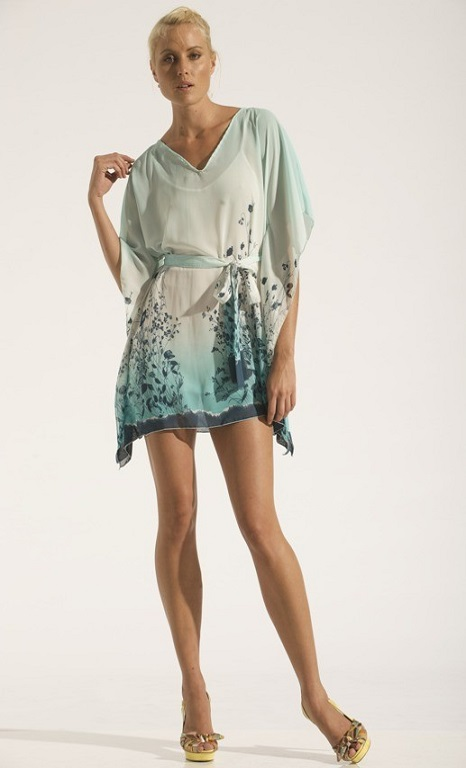 Short Kaftan Signature Print Dress