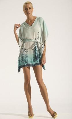 Short Kaftan Signature Print Dress