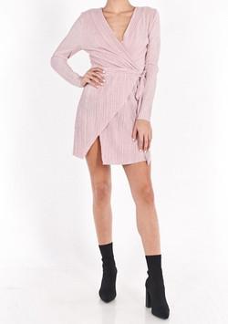 MISHKA MICRO PLEAT DRESS