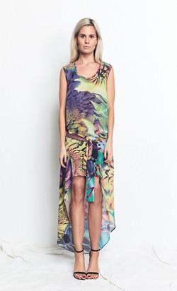 Tunic Dress Vivid Print