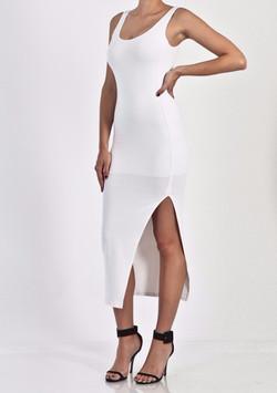 SIMPLE SPLITMAXI DRESS