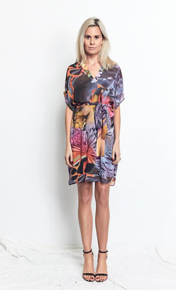 Shirt Dress Vivid Pastel Print