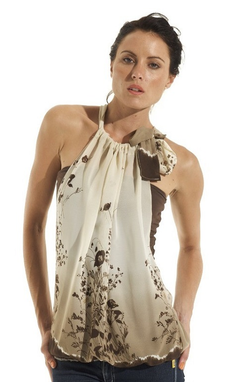 Tiered Short Dress Signature Top