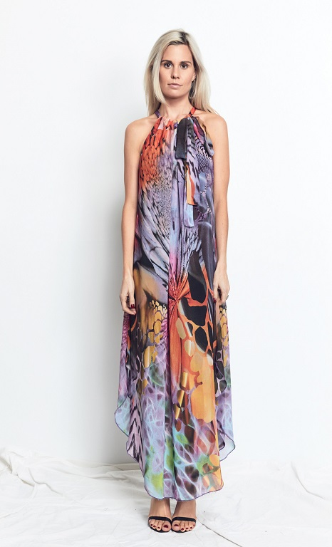 Multi Wearing Dress Vivid Print