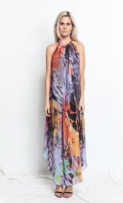 Multi Wearing Dress Vivid Print