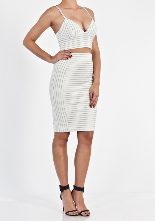 STRIPE 2 WAYS SKIRT