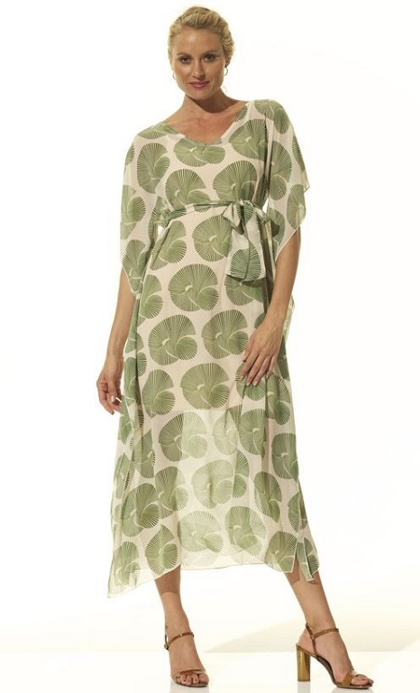 Maxi Kaftan Signature Print Dress