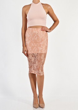 LACE OVERLAY SKIRT