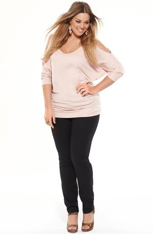 LUREX DOLMAN SLEEVE TOP