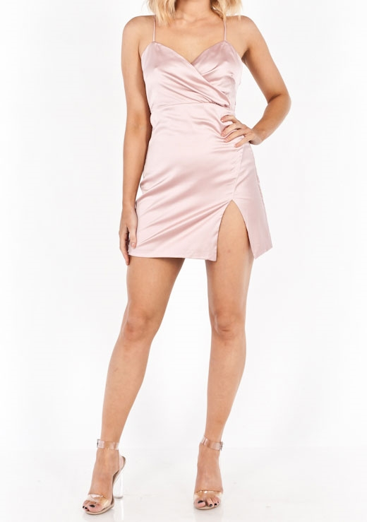TOUCH ME SATIN DRESS