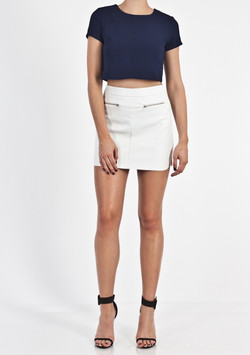 STRUCTURE SHELL CROP TOP