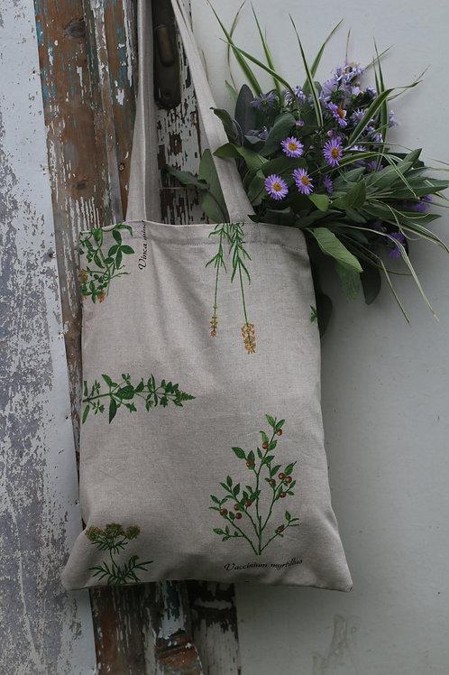 Plátěná taška Bylinky