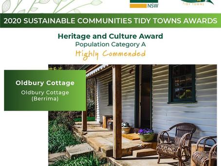 Oldbury Cottage, Berrima wins third award in three years