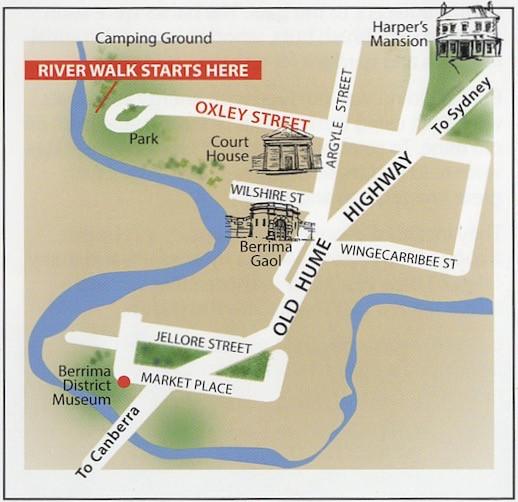 Berrima River Walking Map Location