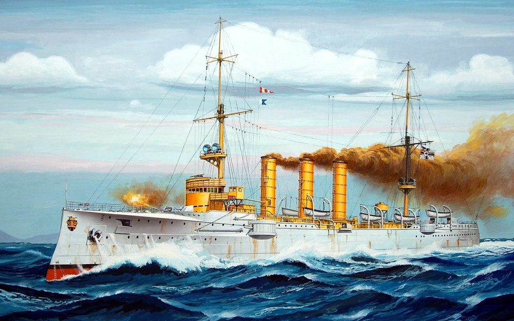Painting of SMS Emden