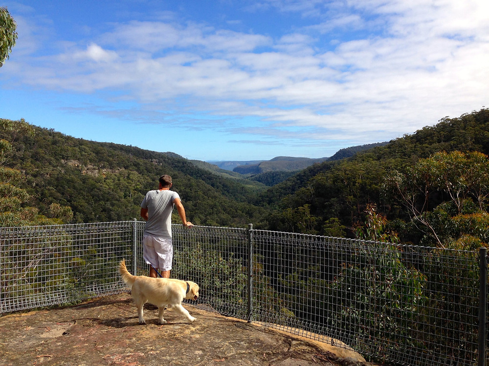 accommodation in Berrima- View over the Nattai National Park, Box Vale Track
