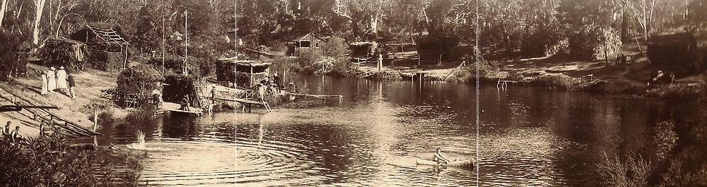 German POWs in Wingecarribee River behind Berrima gaol