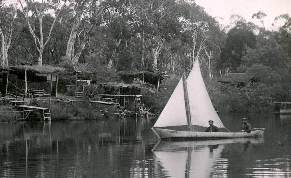 German Yacht on the Wingecarribee River Berrima