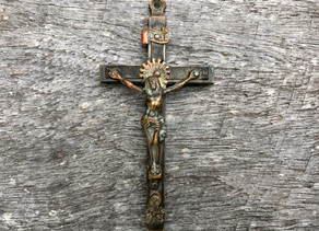 Crucifix uncovered during Oldbury Cottage restoration
