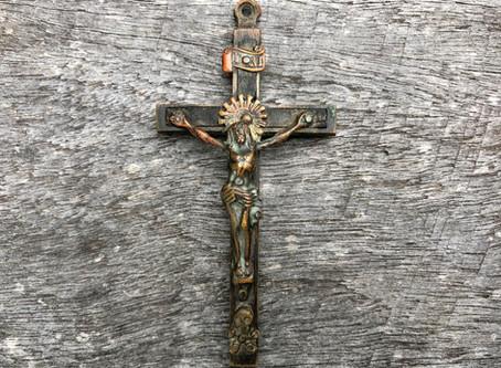 Crucifix uncovered during Oldbury Cottage restoration