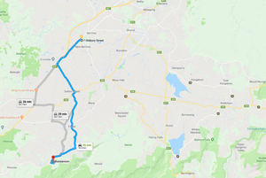 Berrima-accommodation-Berrima to Bundanoon Map - 25 min drive