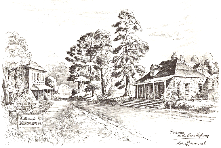 accommodation in Berrima- Berrima's Crowne Inn (left) and current day 'Eshcalot' restaurant (right)