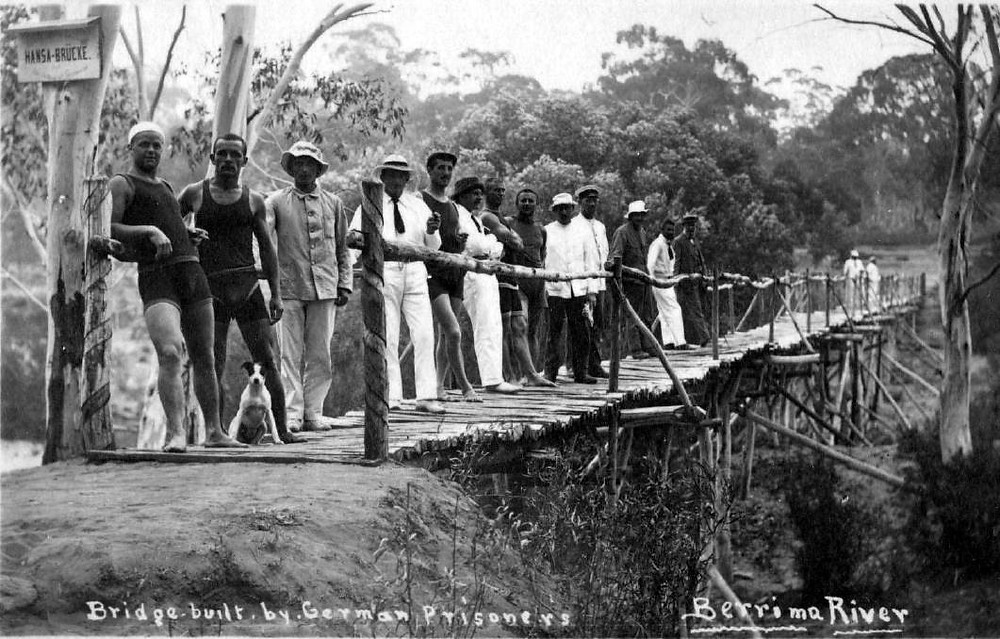 Bridge built by German prisoners across Wingecarribee River