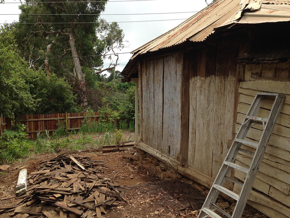 Berrima-accommodation- Timber shingles from the collapsed Journeyman's cottage
