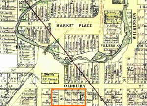 Map of Berrima as planned by Hoddle