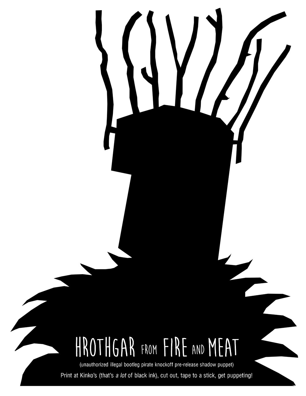 Unauthorized Fire and Meat shadow puppets!!!
