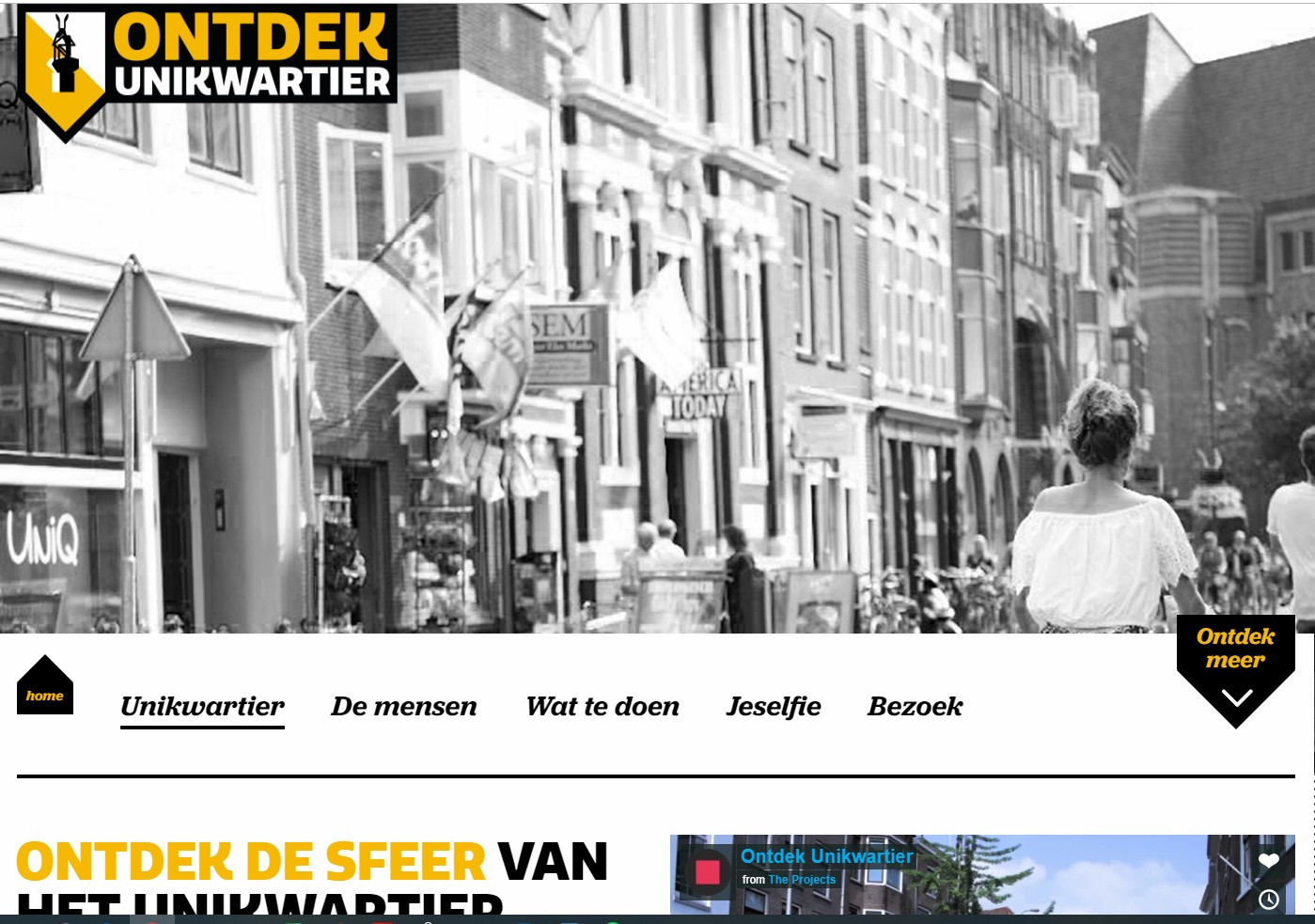 Screenshot website unikwartier.nl