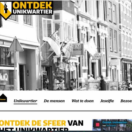Website Unikwartier, Centrum Management Utrecht (2019)
