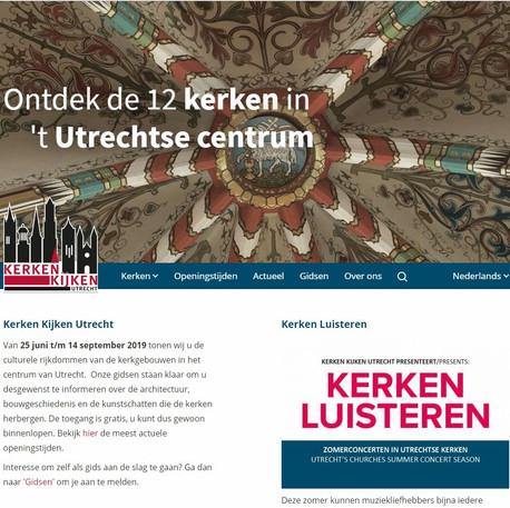 Website Kerken Kijken Utrecht (2018)