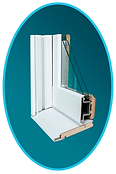 Andersen Double Hung Window Section Cut Out View
