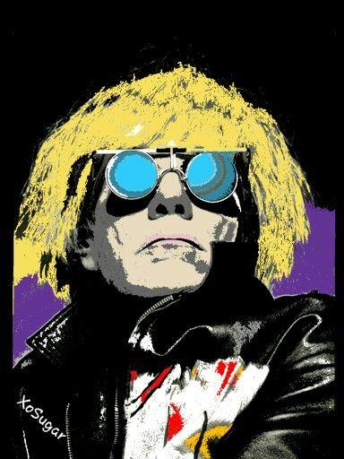 Pop Art Portrait of Andy Warhol