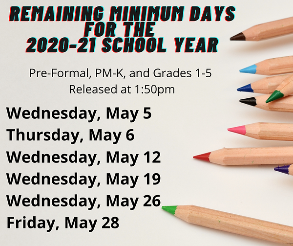 remaining minimum days for the 2020-21 s