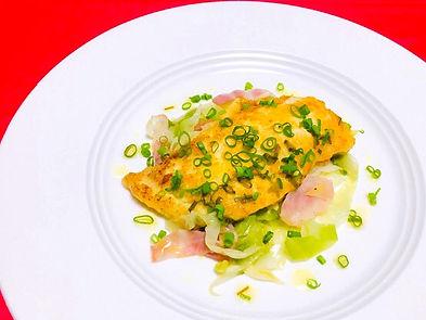 白身魚のパルメザンチーズ焼