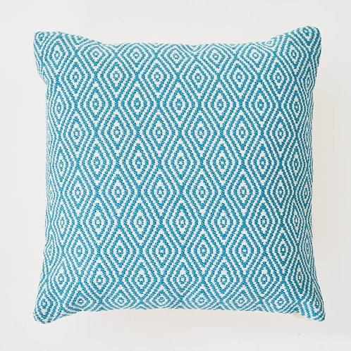Hammam Cushion, in teal, including inner pad
