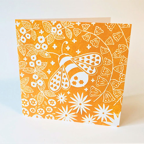 Beatrix Bee Greetings card, Scandi art