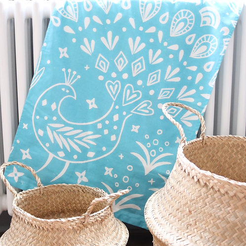 Pearce Peacock Tea Towel, Scandi kitchen gift
